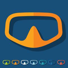Flat design: mask
