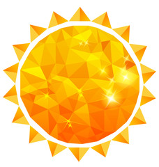 Polygonal sun background