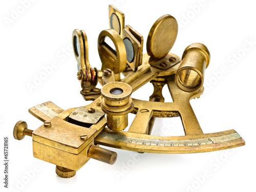 old bronze sextant - 65728165