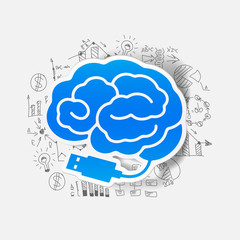 Drawing business formulas: brain