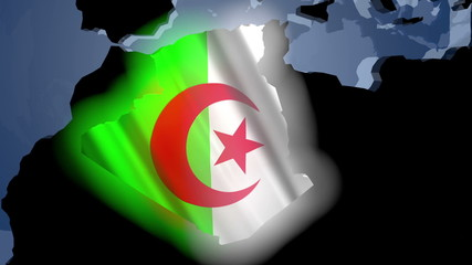 Algeria Earth Zoom In