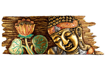 Buddha and Lotus flower