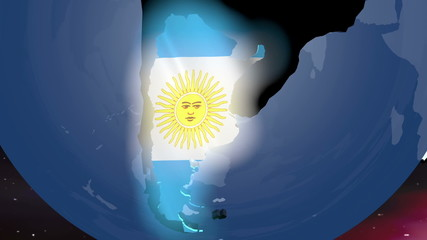 Argentina Earth Zoom In