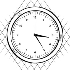 wall clock sketch