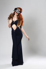 girl in elegant fancy dress