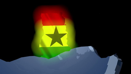 Ghana Earth Zoom In