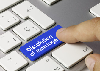 Dissolution of marriage. Keyboard