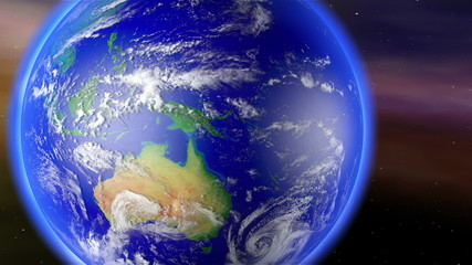 Earth Zoom to Australia with Matte