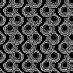 Pattern with circle spiral elements. Seamless texture.