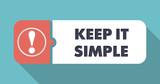 Keep It Simple on Scarlet in Flat Design.