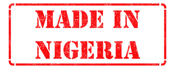 Made in Nigeria - inscription on Red Rubber Stamp.