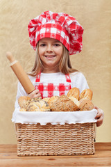 Little chef offering bakery products