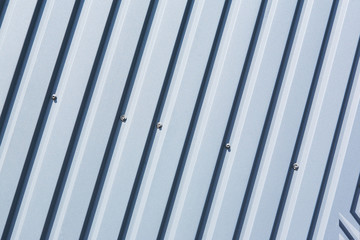 Oblique striped metal sheet