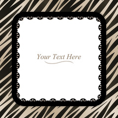 Zebra Striped Square Frame