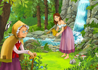 Cartoon fairy tale - illustration for the children