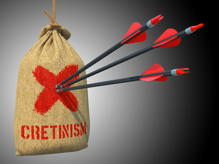 Cretinism - Arrows Hit in Red Mark Target.