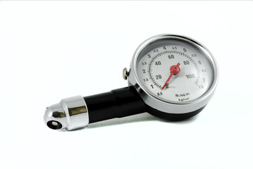 Tire Pressure Gauge isolated over white background