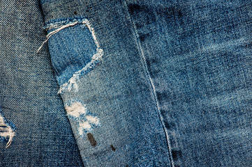Jeans Texture - detail patch on knee