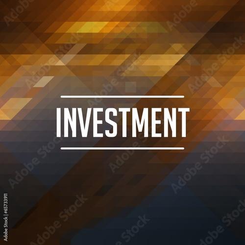 Investment Concept. Retro Label Design.