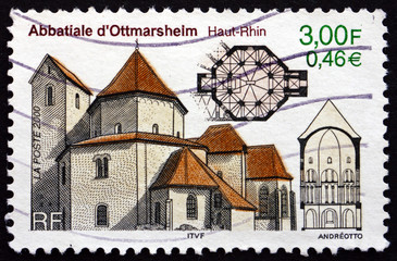 Postage stamp France 2000 Abbey Church of Ottmarsheim, Alsace