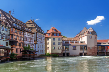 "Strasbourg. District ""little France"" Frantsiya.Evropa."