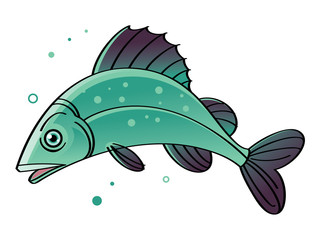 Fish - swimming in the water sea fish
