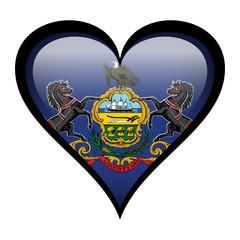 Flag in heart - Pennsylvania