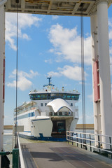 Arrival ferry boat