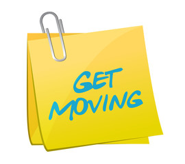get moving post illustration design