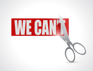 we can cut concept illustration design