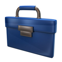 Blue briefcase icon