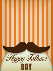 Happy Father Day Mustache Love