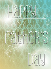 Happy Fathers Day Colorful Background Card