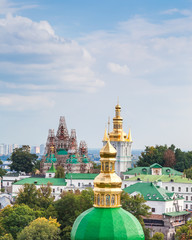 View of Kiev Pechersk Lavra, the orthodox monastery