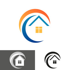 house home logo, icon