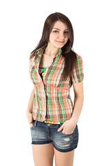 plaid shirt woman