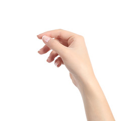 Woman hand holding some like a blank card