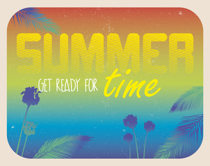 Typographical quote summer time background