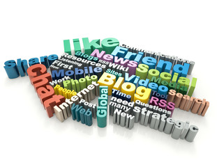 Social media word concept