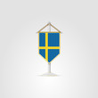 ������, ������: Illustration of national symbols of European countries Sweden