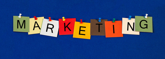 Marketing, sign series for business terms, marketing and adverti