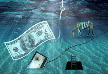 Fantasy Underwater scene