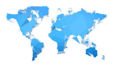 Geometric blue worldmap