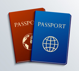 vector modern passports set.