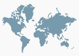 Noktalarla Dünya haritası  4