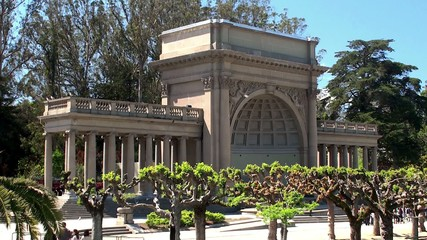 Spreckels Temple of Music on the Music Concourse. San Francisco