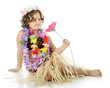 Young Flower-Loving Hula Girl