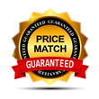 Price Match Guarantee Gold Label Sign Template Vector Illustrati