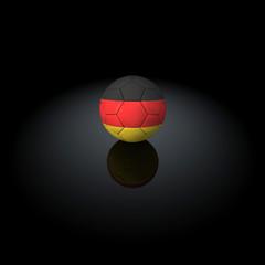 Germania - Pallone con bandiera su sfondo nero