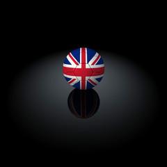 Inghilterra - Pallone con bandiera su sfondo nero